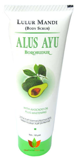 Lulur Mandi Alus Ayu Borobudur With Avocado Oil Plus Whitening 100gr