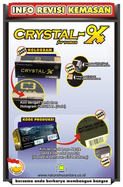 Kemasan Crystal X terbaru
