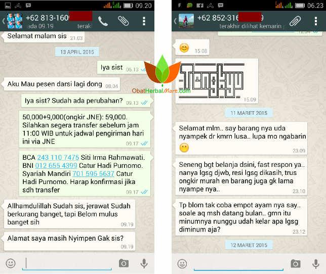 Testimoni Darsi Jamu Borobudur dan Empot-Empot Ayam