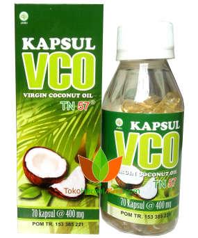 Kapsul VCO (Virgin Coconut Oil) TN57 Toga Nusantara 70 Kapsul Toko Herbal Mart