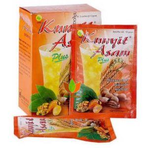 Kunyit Asam Plus Fiber Sidomuncul 10 Box (50 Sachet) - Toko Herbal Mart