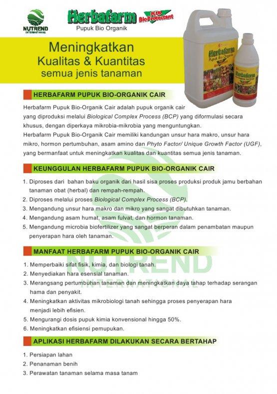 Nutrend Herbafarm Bio Organic Fertilizer (Pupuk Cair Organik) Sidomuncul 1 Liter - BROSUR - Toko Herbal Mart
